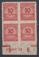 DR Minr.318B 4er Block UR HAN 5887.23 Postfrisch - Ungebraucht