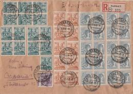 Gemeina. R-Brief Mif Minr.20x 947,15x 949,10x 951,167 Radebeul 29.6.48 - Sowjetische Zone (SBZ)