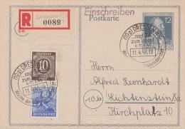 Gemeina. R-Ganzsache Zfr. Minr.918,955 SST Dresden 11.4.48 - Gemeinschaftsausgaben