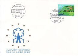 SWITZERLAND 1988 EUROPA SYMPATHY ISSUE   FDC - European Ideas