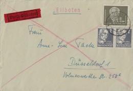 DDR Brief Eilbote Mif Minr.253,SBZ Minr.2x 212 Halle/S. 14.8.51 - Lettres & Documents