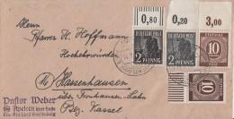 Gemeina. Brief Mif Minr.918 OR Platte,918 UR Walze,943 OR Platte,943 OR Walze Apelern 14.5.48 - Gemeinschaftsausgaben
