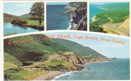 Canada Multi View Greetings From Cabot Trail Cape Breton Nova Scotia - Cape Breton