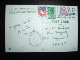 CP TP MARIANNE DE BEQUET 0,60F + ST LO 0,20F + USA 21C OBL. 15-3-1976 ST FRANCOIS GUADELOUPE (971 GUADELOUPE) - 1971-76 Marianna Di Béquet
