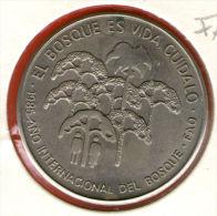 CUBA / KUBA *** 1 Peso 1985 ***  Cu-Ni - KM# 133 - 30mm - FAO - The Forest Is Life - El Bosque Es Vida - Cuba