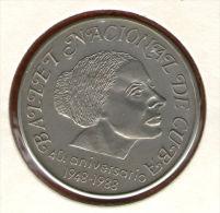 CUBA / KUBA *** 1 Peso 1988 ***  Cu-Ni - KM# 276 - 30mm - 40th Anniversary Of Cuban National Ballet - Cuba