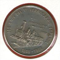 CUBA / KUBA *** 1 Peso 1989 ***  Cu-Ni - KM# 274 - 30mm - 1er Ferrocarril España - First Spanish Railroad - Cuba