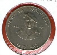 CUBA / KUBA *** 1 Peso 1989 ***  Cu-Ni - KM# 287 - 30mm - Tania La Guerrillera, Argentinian Revolutionary - Cuba