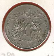 CUBA / KUBA *** 1 Peso 1990 ***  Cu-Ni - KM# 288 - 30mm - Discovery Of America - Columbus Meeting Natives - Cuba