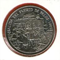 CUBA / KUBA *** 1 Peso 1990 ***  Cu-Ni - KM# 273 - 30mm - Discovery Of America - Columbus Departing From Spain - Cuba