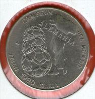 CUBA / KUBA *** 1 Peso 1990 ***  Cu-Ni - KM# 289 - 30mm - World Soccer Championship - Italy 1990 Campeon Alemania - Cuba