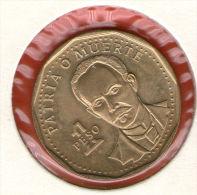 CUBA / KUBA *** 1 Peso 1992 ***  Bro - KM# 347 - 24.4 Mm - Jose Marti - Cuba