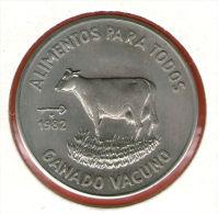 CUBA / KUBA *** 1 Peso 1982 ***  Cu-Ni - KM# 95 - 30mm - FAO - GANADO VACUNO - Con Certif. / CoA - Cuba