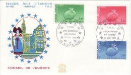 FRANCE 1985 EUROPA SYMPATHY ISSUE   FDC - European Ideas