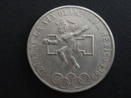 1968 - RARE - FAUX - FAUSSE MONNAIE De 25 Pesos - Mexique - 38 Mm De Diamètre - Mexiko
