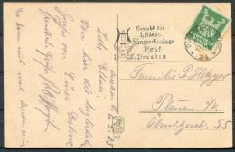 1925 Germany Dresden Sanger Bundesfest Music Festival Postkarte - Deutschland