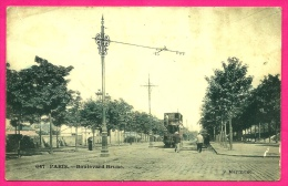 CPA 75014 PARIS - Boulevard Brune (Tramway à Impériale) ° P. Marmuse ** Ferronerie - Arrondissement: 14