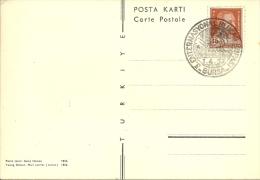 Turkey; Special Postmark 1957 3rd International Uludag Cup, Bursa (Skiing) - 1921-... République