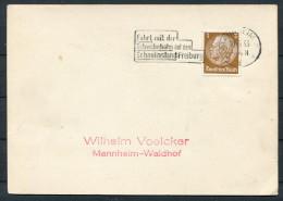 1933 Germany Mannheim Schauinsland Freiburg Postkarte - Germany