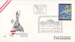 AUSTRIA 1978 EUROPA SYMPATHY ISSUE   FDC - European Ideas