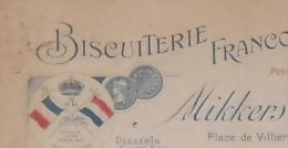Montreuil BISCUITERIE FRANCO HOLLANDAISE MIKKERS & SCHAGEN Facture 1920 - Levensmiddelen