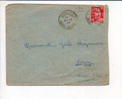 1949 Cachet à Date Manuel Recette Distribution (sans Tiret) Vausseroux Sur Gandon Seul - Handstempels