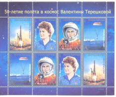2013. 50y Of First Women´s Space Flight Of  V. Tereshkova, Sheetlet, Mint/** - Space