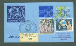 VATICAN 1992 AEROGRAMME REGISTERED POPE JOHN PAUL II Travel To LUANDA ANGOLA (WITH NEWSPAPER OF EVENT) (E9847 - Vatican