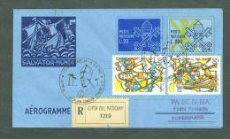 VATICAN 1992 AEROGRAMME REGISTERED POPE JOHN PAUL II Travel To POPENGUINE SENEGAL (WITH NEWSPAPER OF EVENT) (E9851 - Vatican