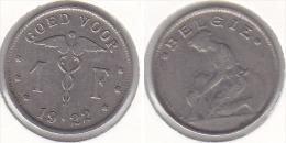1 FRANC  Nickel Albert I 1922 FL - 1909-1934: Albert I