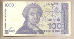Croazia - Banconota Circolata Da 1000 Dinari - 1991 - - Croatie