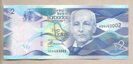 Barbados - Banconota Non Circolata Da 2 Dollari - 2013 - Barbades