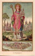 Santino Nuovo SAINT PIRMIN Vescovo E Abate - Ristampa Tipografica Da Santino Antico - PERFETTO F89 - Religion & Esotérisme