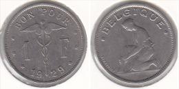 1 FRANC  Nickel Albert I 1929 FR - 1909-1934: Albert I