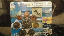 Blistert BU 1 Cent à 2 Euro Grèce 2013 Officiel - Iles De Mykonos Et Délos - Grèce
