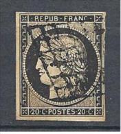 CERES   N° 3   OBL TB COTE 60€ - 1849-1850 Cérès