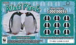 Lottery - Hungary - WWF - Szamárpingvin - Gentoo Penguin - Biglietti Della Lotteria