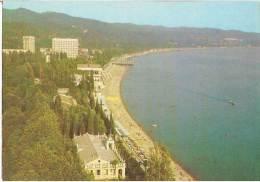 Georgia Abkhazia -   Postcard View From Sukhumi, Beach, Unused - Georgia
