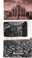 VER2833 - MILANO , 3 Cartoline Con Vedute Varie   . VIAGGIATE - Milano