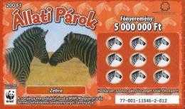 Lottery - Hungary - WWF - Zebra - Zebras - Biglietti Della Lotteria