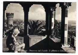 VER2838 - GENOVA 1954, Panorama Del Castello D'Albertis - Genova