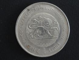 1974 - RARE - FAUX - FAUSSE MONNAIE - 1 Leone - Sierra Leone - Siaka Stevens - 38 Mm De Diamètre - Sierra Leone