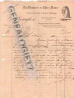 75 565 PARIS AU CHIMERE NOTRE DAME Ets G. BOUGLER 11 rue d Arcole cuivre etain 1922 faience de Rouen Nevers