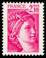 France Sabine De Gandon N° 1978 ** Le 2frs10 Rose Carminé - 1977-81 Sabine (Gandon)