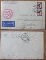 DR 382-Luftschiff Graf Zeppelin Mittelmeerfahrt Von Friedrichshafen / Barcelona  Siehe Scan (P-A - Poste Aérienne
