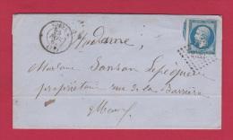 LETTRE DE ROUEN //   POUR MEAUX  // 26 NOV 1861 - 1849-1876: Classic Period