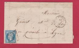 LETTRE DE ST ETIENNE  //   POUR LYON    //  12 SEPT 1859 - 1849-1876: Classic Period