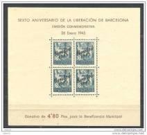 ESBCNNE30-L3641TSC.España .Espagne.Espagne.LIBERACION  DE BARCELONA.Beneficencia.NA VIDAD 45.1945.( Ed NE 30**) - Sin Clasificación