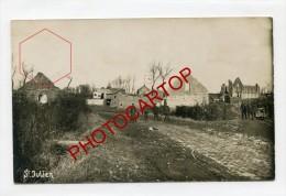 SINT-JULIAAN-St JULIEN-Carte Photo Allemande-Guerre14-18-1WK-BELGIQUE-BELGIEN-Flandern- - Langemark-Poelkapelle