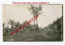 SINT-JULIAAN-St JULIEN-Carte Photo Allemande-Guerre14-18-1WK -BELGIQUE-BELGIEN-Flander N- - Langemark-Poelkapelle
